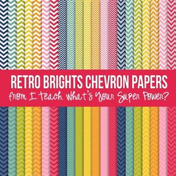 Retro Brights Chevron Paper Pack