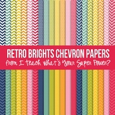 Retro Brights Chevron Paper Pack