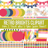 Retro Brights Clipart Pack