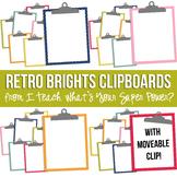 Retro Brights Clipboards Clipart