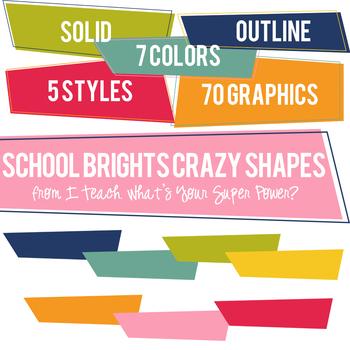 Retro Brights Crazy Shapes Trapezoids Set