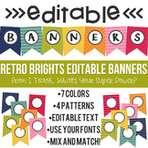 Editable Banners Retro Brights