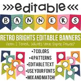 Retro Brights Editable Banners