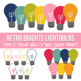 Retro Brights Lightbulbs Clipart