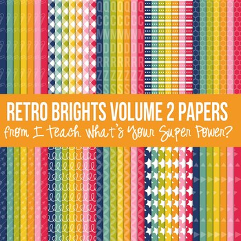 Retro Brights Mega Digital Paper Pack Volume 2