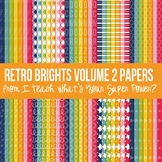 Retro Brights Mega Digital Paper Pack Volume 2