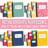 Retro Brights Notebook Set