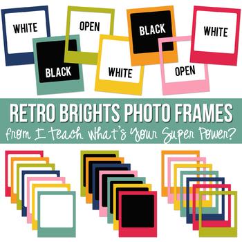 Retro Brights Photo Frames Set
