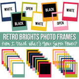 Retro Brights Photo Frames Set