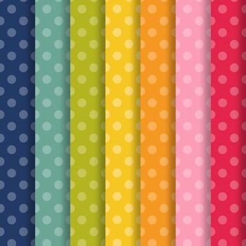 Retro Brights Polka Dot Paper Pack