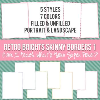 Retro Brights Rectangle Skinny Borders