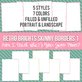Retro Brights Rectangle Skinny Borders
