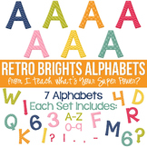 Retro Brights Set of 7 Alphas