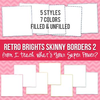 Retro Brights Square Skinny Borders