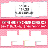 Retro Brights Square Skinny Borders