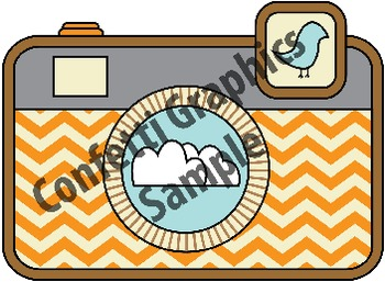 Retro Camera Clip Art Graphic Design Photography Logo Chevron Digital ClipArt