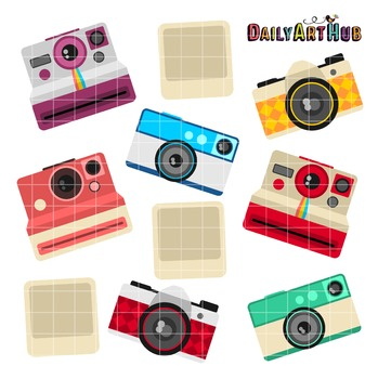 Retro Camera Clip Art - Great for Art Class Projects!