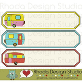 Name Tags with Retro Camper Trailers