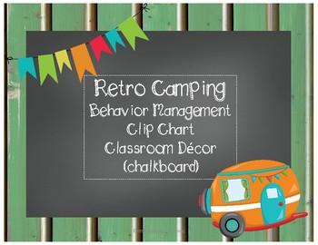 Retro Camping Behavior Chart