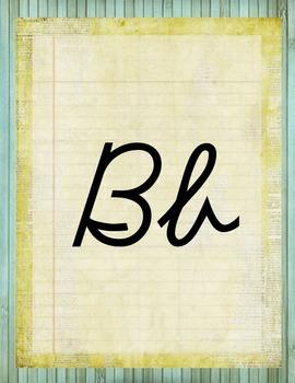 Retro Chic Alphabet Posters