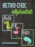 Retro Chic Chalkboard Alphabet Cards