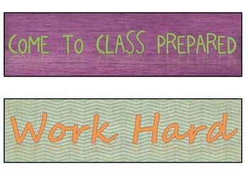 Retro Chic Classroom Rules