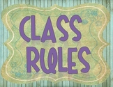 Retro Chic Classroom Rules