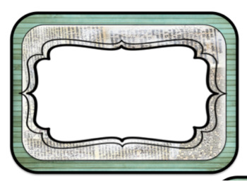 Retro Chic Editable Signs and Labels