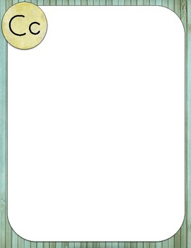 Retro Chic Full Page Word Wall