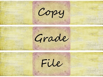 Retro Chic Grade, Copy, File Labels