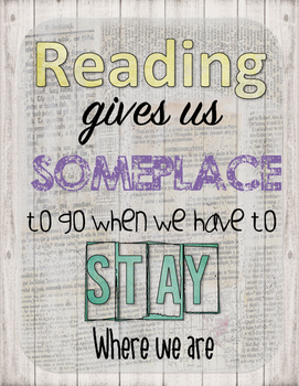 Retro Chic Reading Gives Us Someplace to Go Poster