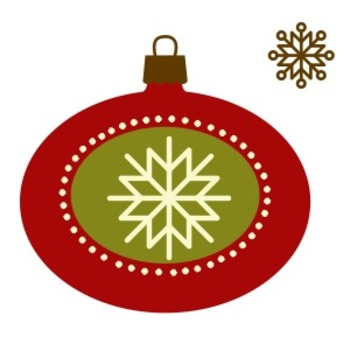 Retro Christmas Decoration Clip Art Sample