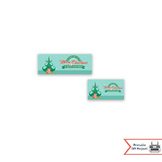 Retro Christmas Treat Bag Toppers for Classroom & Holiday Parties, Party Favors