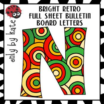 Retro Colored Circles Bulletin Board Letters