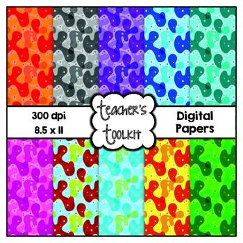 Retro Digital Background Papers {8.5 x 11} Clip Art CU OK