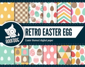 Retro Easter egg digital paper