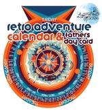 Retro Explorer Perpetual Calendar and BONUS! Matching Father's Day Card