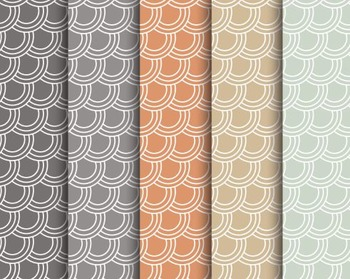 Retro Fish Scale Papers, Retro, Fish, Scale, Set #235