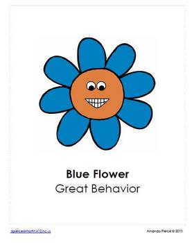 Retro / Flower Themed Behavior Clip Chart AND Take Home Chart