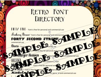 Retro Fonts included for FREE with this Font Directory - 48 Free Fonts