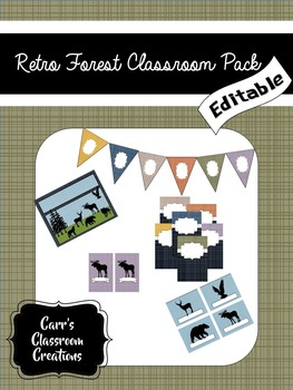 Retro Forest Classroom Pack {EDITABLE}