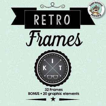 Retro Frames Clip Art Kit