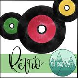 Retro - Free Watercolor Records Clip Art