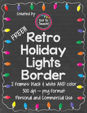 FREE! Retro Holiday Lights Border