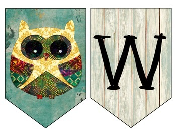 Retro Owl Welcome Banner, I Can, Subject Headers, Passes