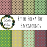 Retro Polka Dots - 24 Backgrounds