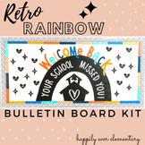 Retro Rainbow Welcome Bulletin Board Kit
