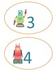 Retro Robot Number Line 1-20