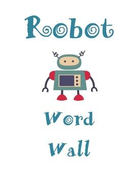 Retro Robot Word Wall