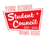Retro Student Council T-Shirt Design (customizable)
